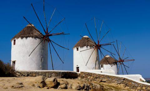 Morile de Vant din Insula Mykonos