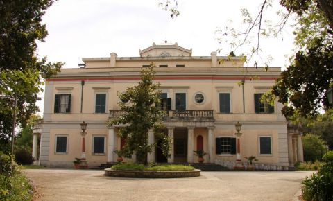 Parcul si Palatul Mon Repos din Insula Corfu