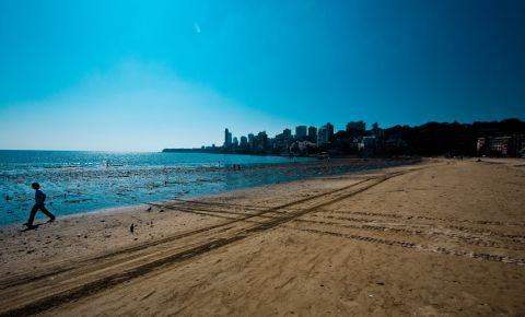 Plaja Chowpatty din Mumbai