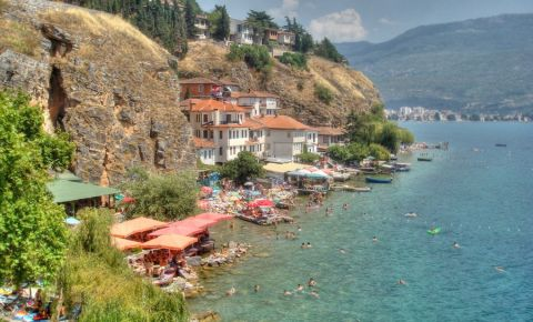 Plaja Kaneo din Ohrid