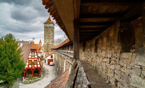 Zidul Stadtmauer din Rothenburg ob der Tauber