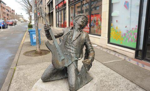 Statuia Jimi Hendrix din Seattle