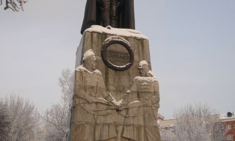 Statuia lui Kolchak din Omsk