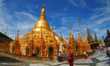 Pagoda Shwedagon din Rangoon