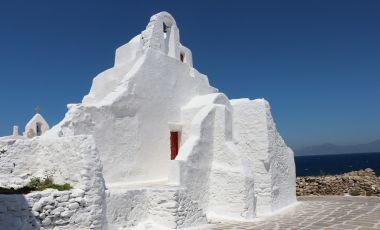 Biserica Panagia Paraportiani din Insula Mykonos