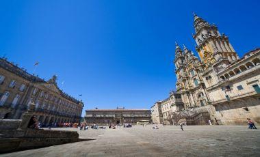 Piata Obradoiro din Santiago de Compostela