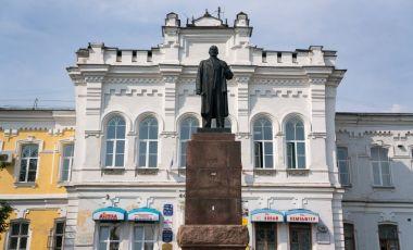 Statuia lui Lenin din Omsk