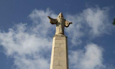Statuia Preasfintei Inimi a lui Iisus din Ibiza