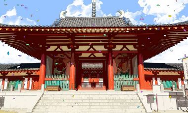 Templul Shitenno din Osaka