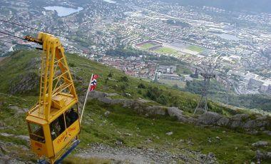 Telecabina Ulriken din Bergen