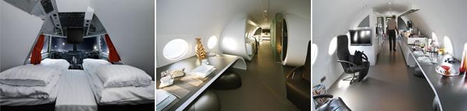 Hotelurile Jumbo Jet Hotel Suedia si Airplane Suite Olanda