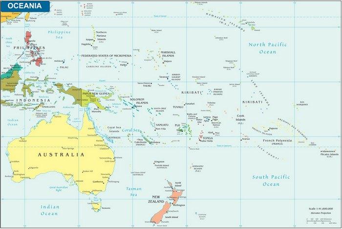Harta Politica a Oceaniei