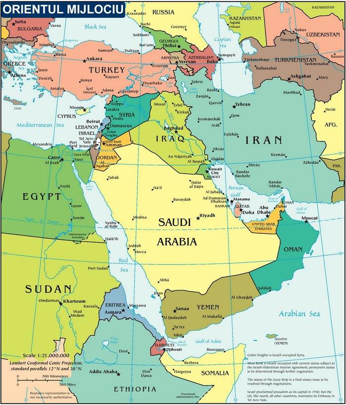 Harta Politica a Orientului Mijlociu